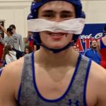 Mustangs Wrestling Team Battle Beyer High School at away Dual Meet
