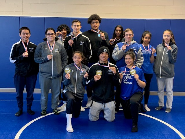 Mustangs Wrestlers Have Their Best Ever Showing at League Finals