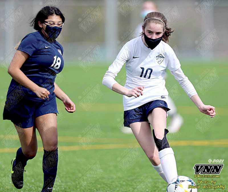 March 13, 2021 JV Girls Soccer Burlington at Squalicum