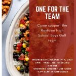 Chipotle Fundraiser for Boys Golf Team Wednesday, March 17th from 5-9