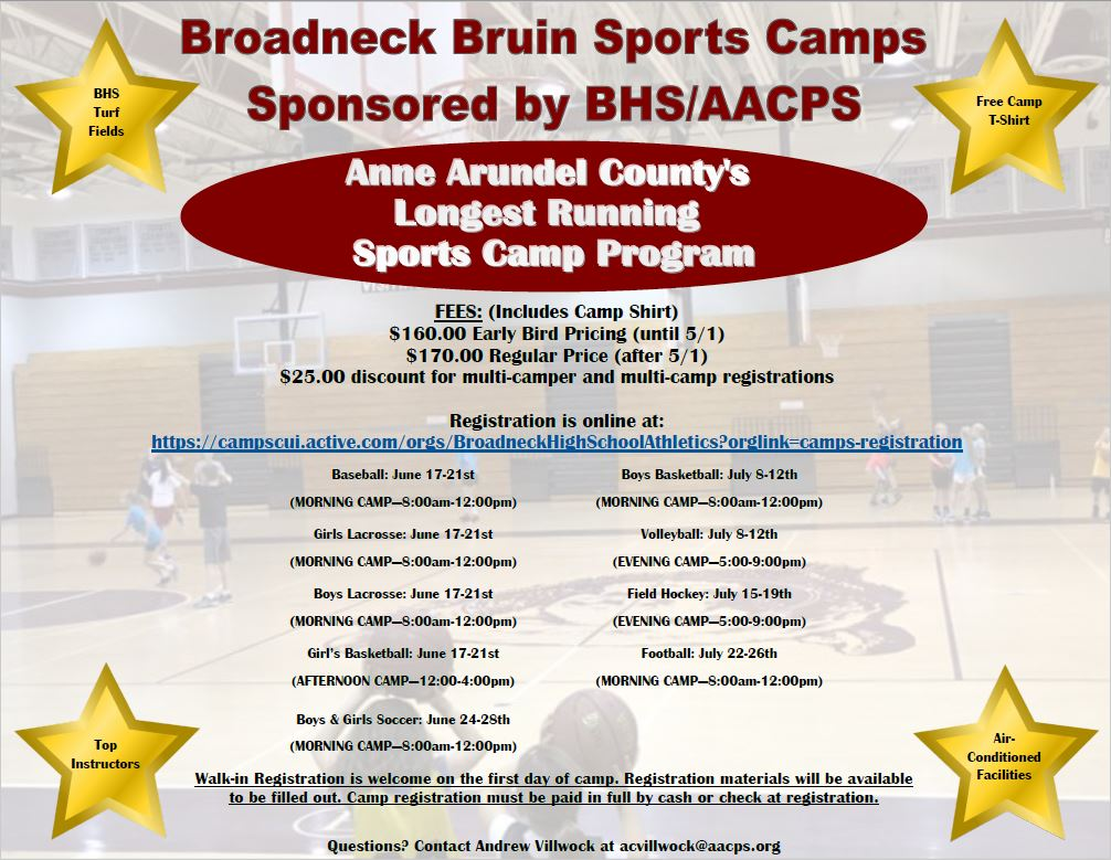 2019 Bruins Sports Camp Registration is OPEN FOR BUSINESS