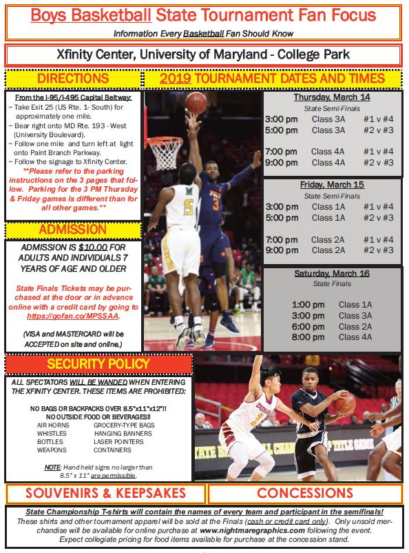Fan Focus: Important Information for tonight's State Semifinal Basketball Game