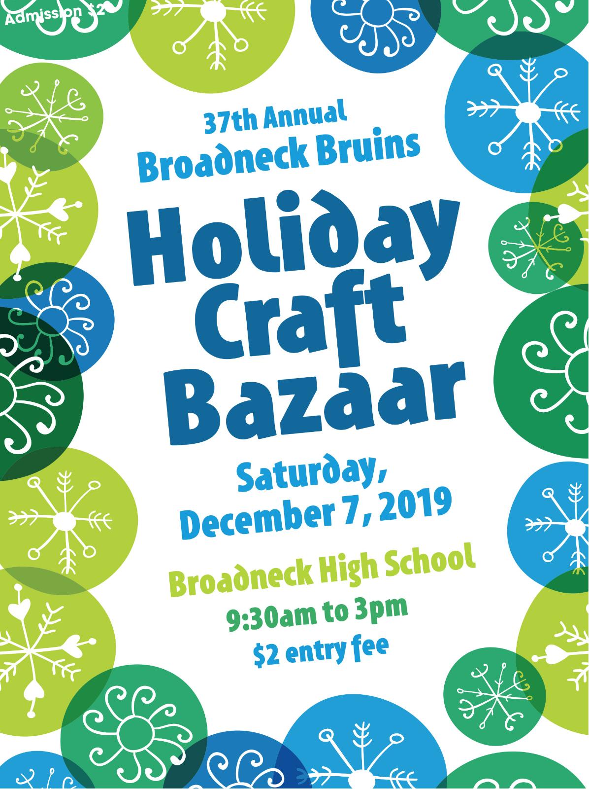 Bruin's Holiday Craft Bazaar – WE NEED YOU!