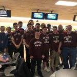 Unified Bowling takes 3rd place in championship match.  Athletes Gabe Galloway and Luke Stimely posted scores of 116 and 141.  Partners Mikey Ryan and Tristan Hogan posted 199 and 211.  Logan Ryan, Dom Sages, Shea Versey, and Casey Barrick and Alternates Eric Stag, Kellen Urban, Sam White and Cole Versey put in a total team effort for your Bruins today!   Congratulations Bruins!