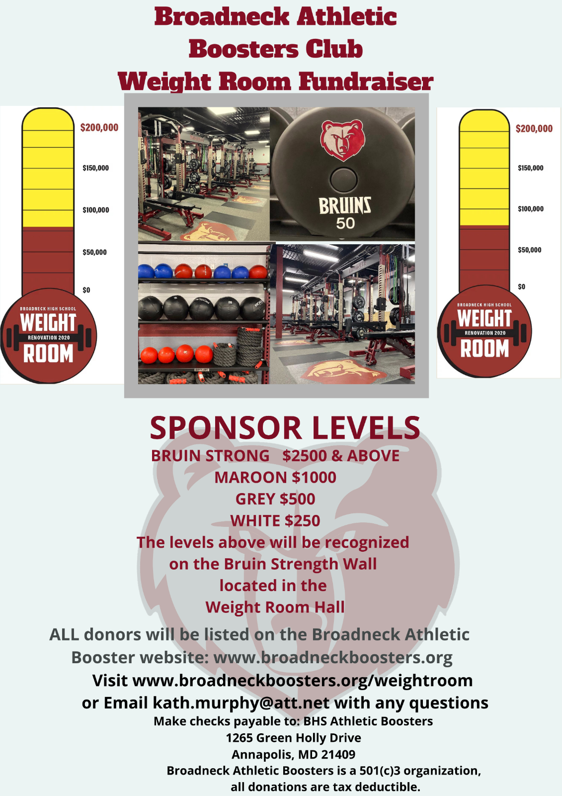 Support Your Bruins! Read More for Sponsorship Opportunities!