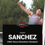 Dominik Sanchez wins 1st PLACE in Discus at the CWAC Track Show Down!
