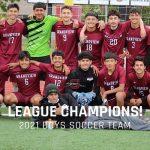 Boys Soccer Team League Champions!