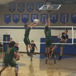 Damien High School Boys Varsity Volleyball beat Laguna Blanca High School 3-0