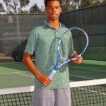 Sophomore, Ian Habbestad, Baseline League Tennis Singles MVP