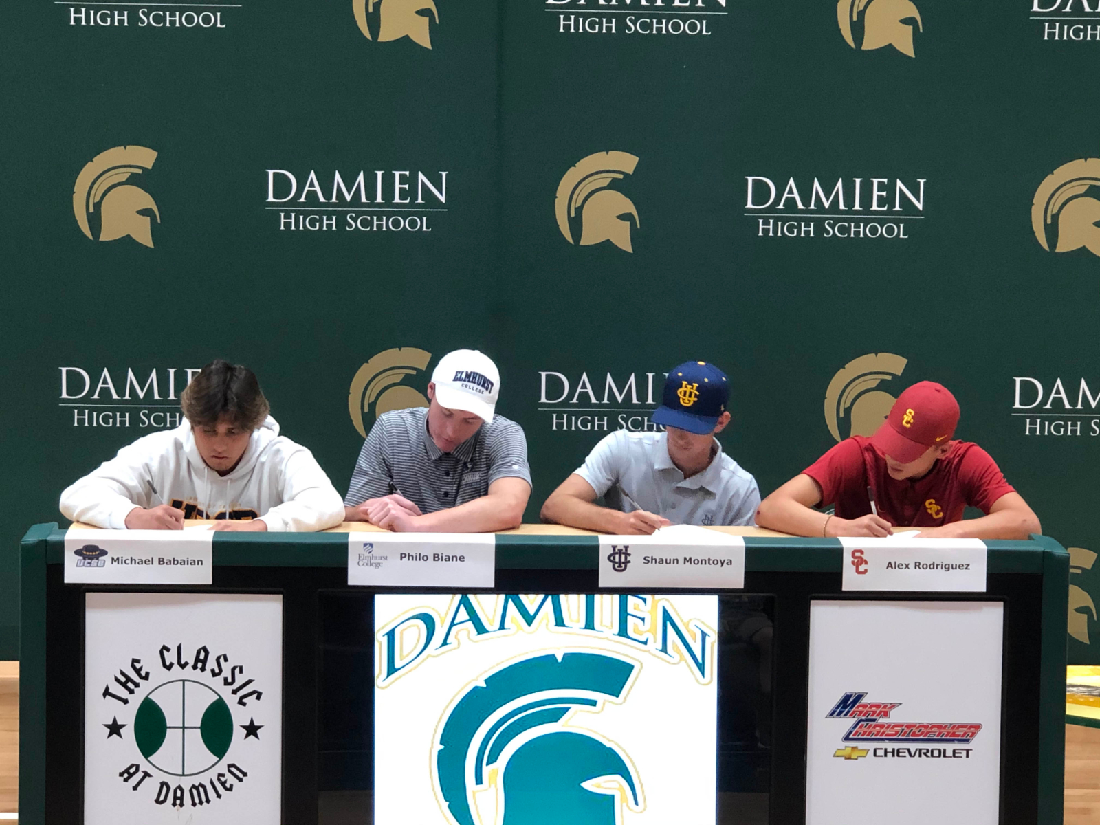 Congratulations to Damien's Newest College Commits