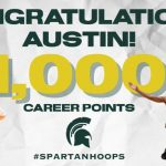 Senior Austin Cook Hits Career Mark in Spartans Win