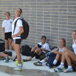 Girl's Soccer looking relaxed and confident..