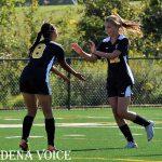 Girl's Soccer Celebrating a goal vs. Severna Park. #EaglesInAction   #NEGirlsSoccer