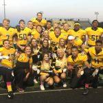 Football and Cheer group photo on Senior Night  #ThankYouNESeniors
