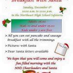 NHS Cheerleaders Host Breakfast With Santa on Sunday, December 6th