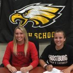 Nikki Hallikas and Leanne Burroughs to play lacrosse at Frostburg.