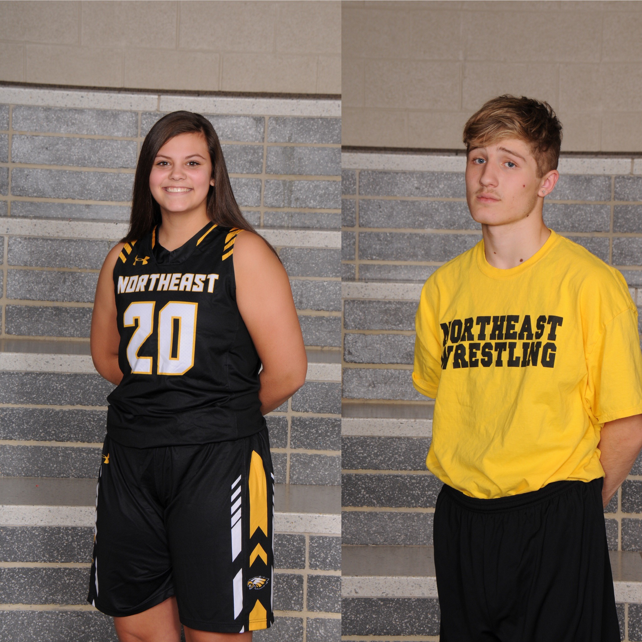 NHS Athletics December Athletes of the Month: Kyle Preston & Ryleigh Nally