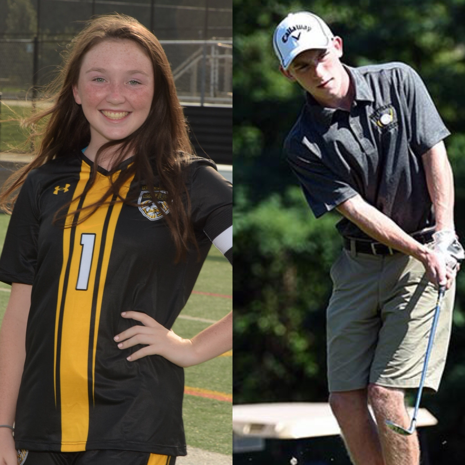 NHS Athletics October Athletes of the Month: Evelyn Cronise and Brendan Heptner