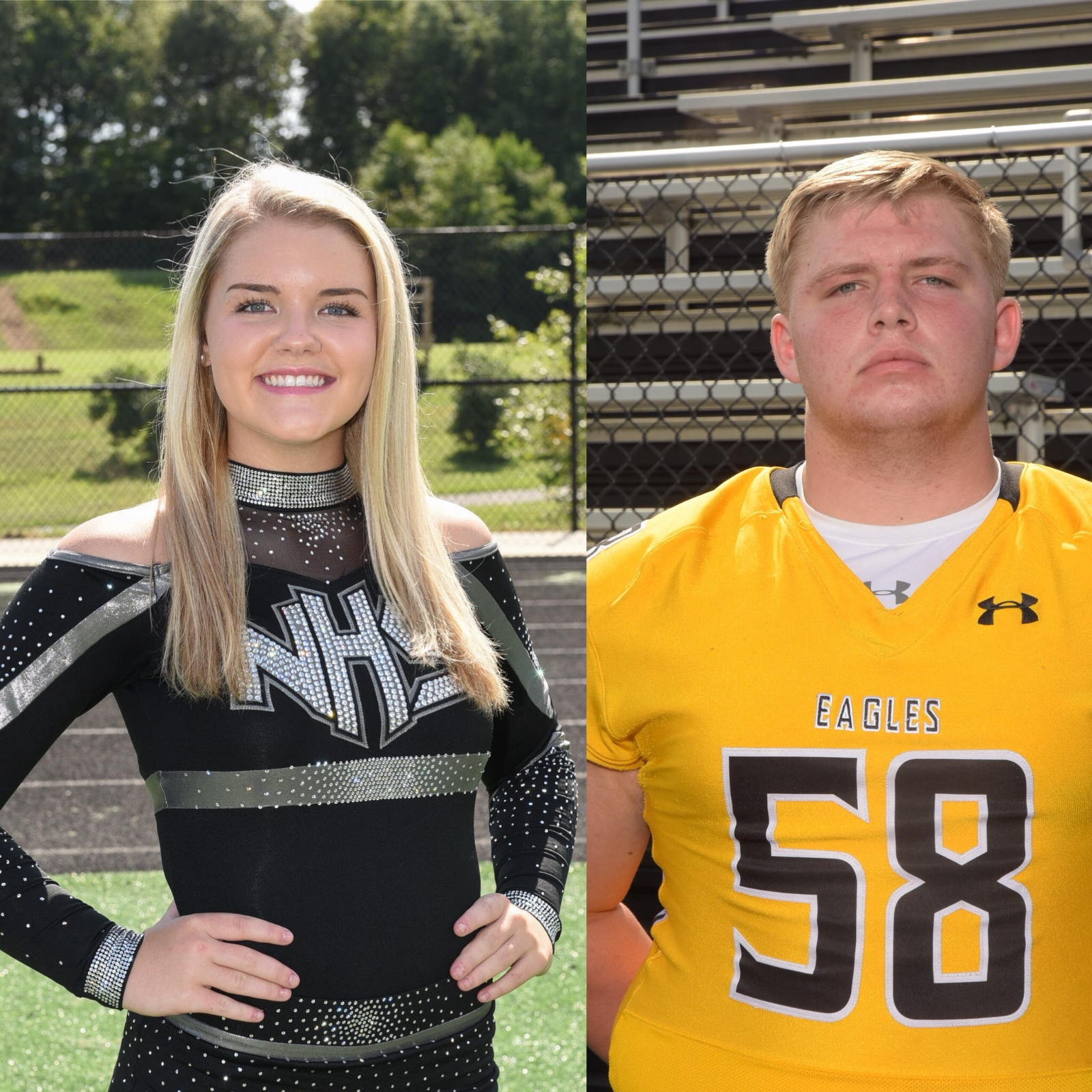 NHS Athletics November Athletes of the Month: Matt Wukitch and Anna Myers
