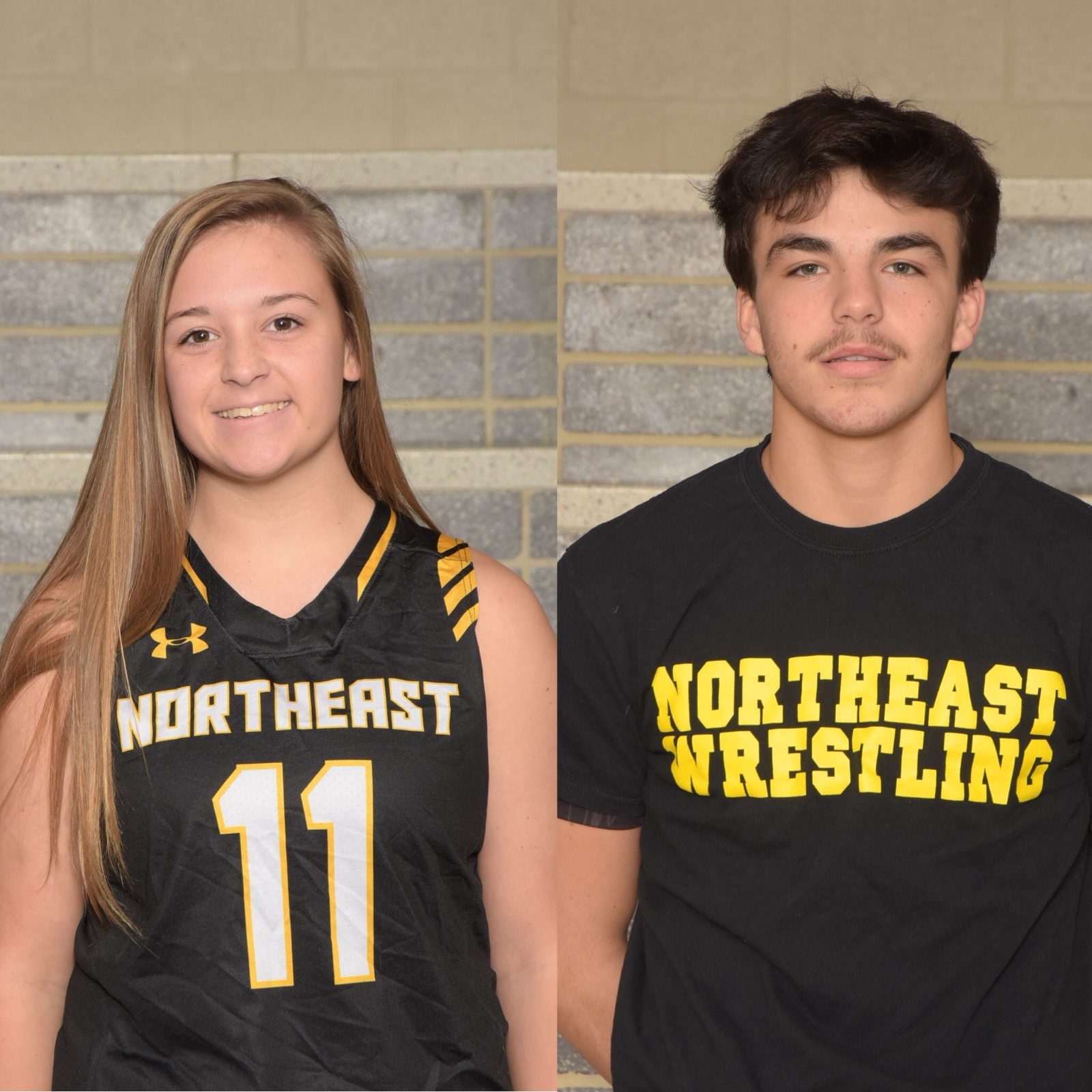 NHS Athletics December Athletes of the Month: Allyson Wills and Billy Katzenberger
