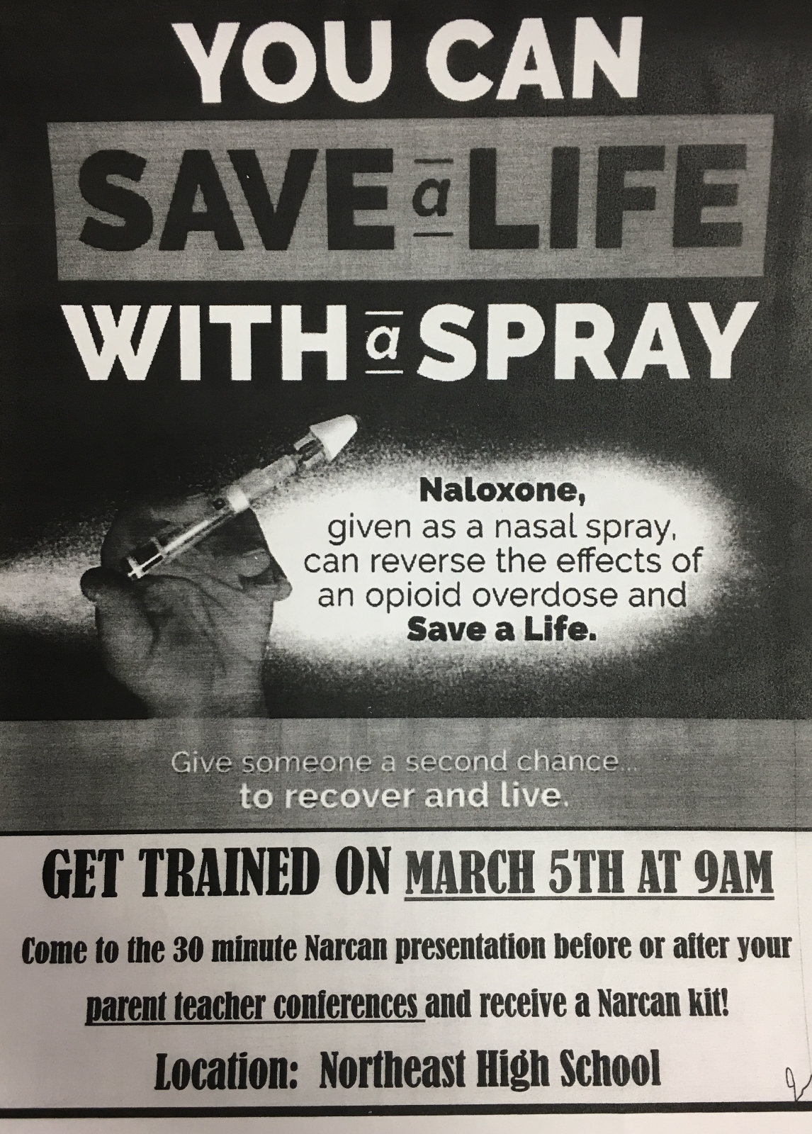 You Can Save A Life With A Spray (Narcan Training at NHS)