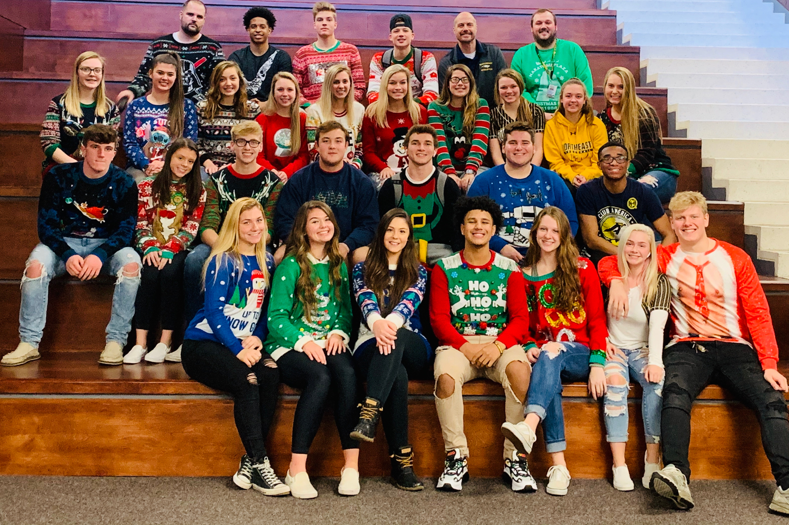 """Happy Holidays from this """"Ugly Sweater"""" wearing group of #NhsCaptains.."""