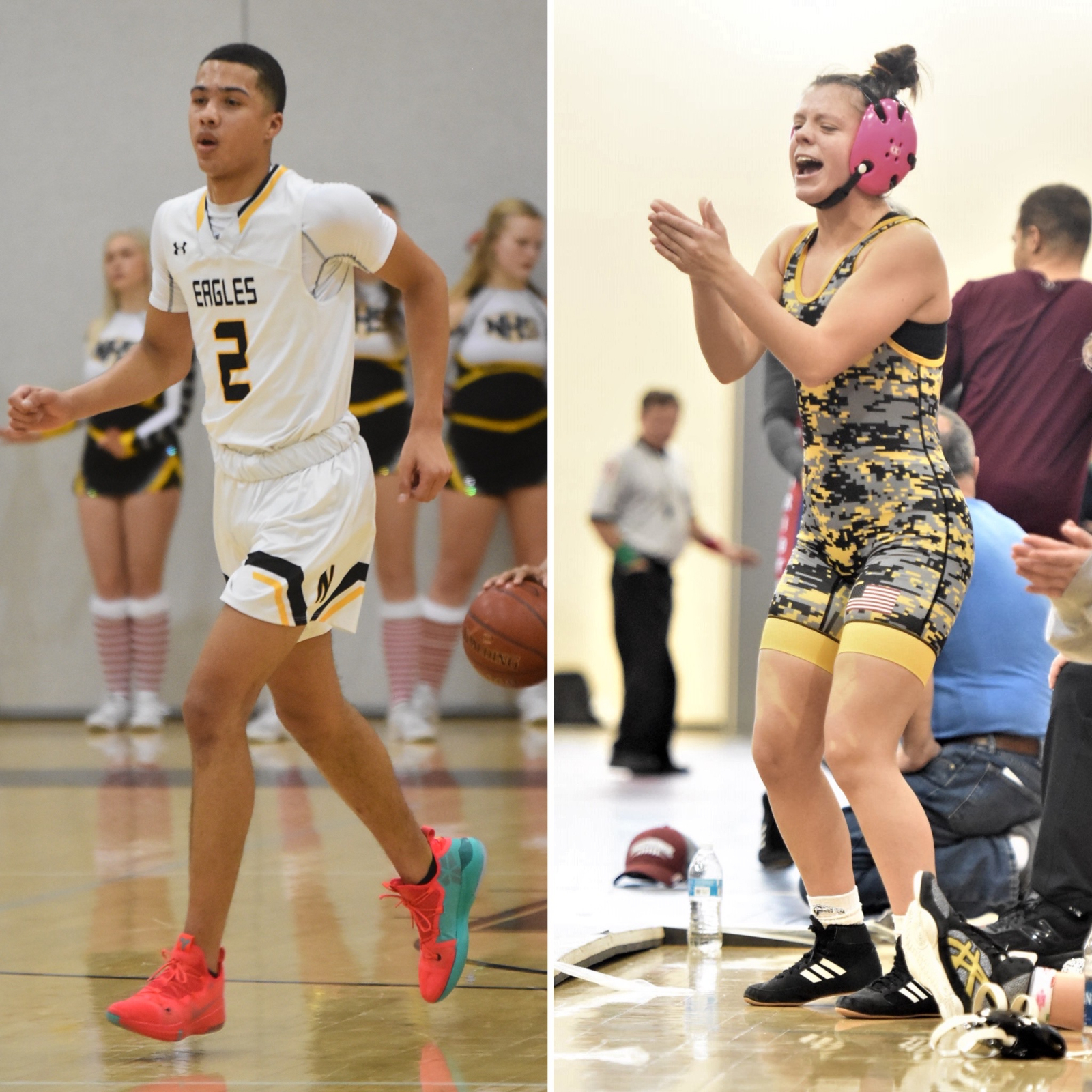NHS Athletics December Athletes of the Month: Alena Pangalis and Darrell Sheppard