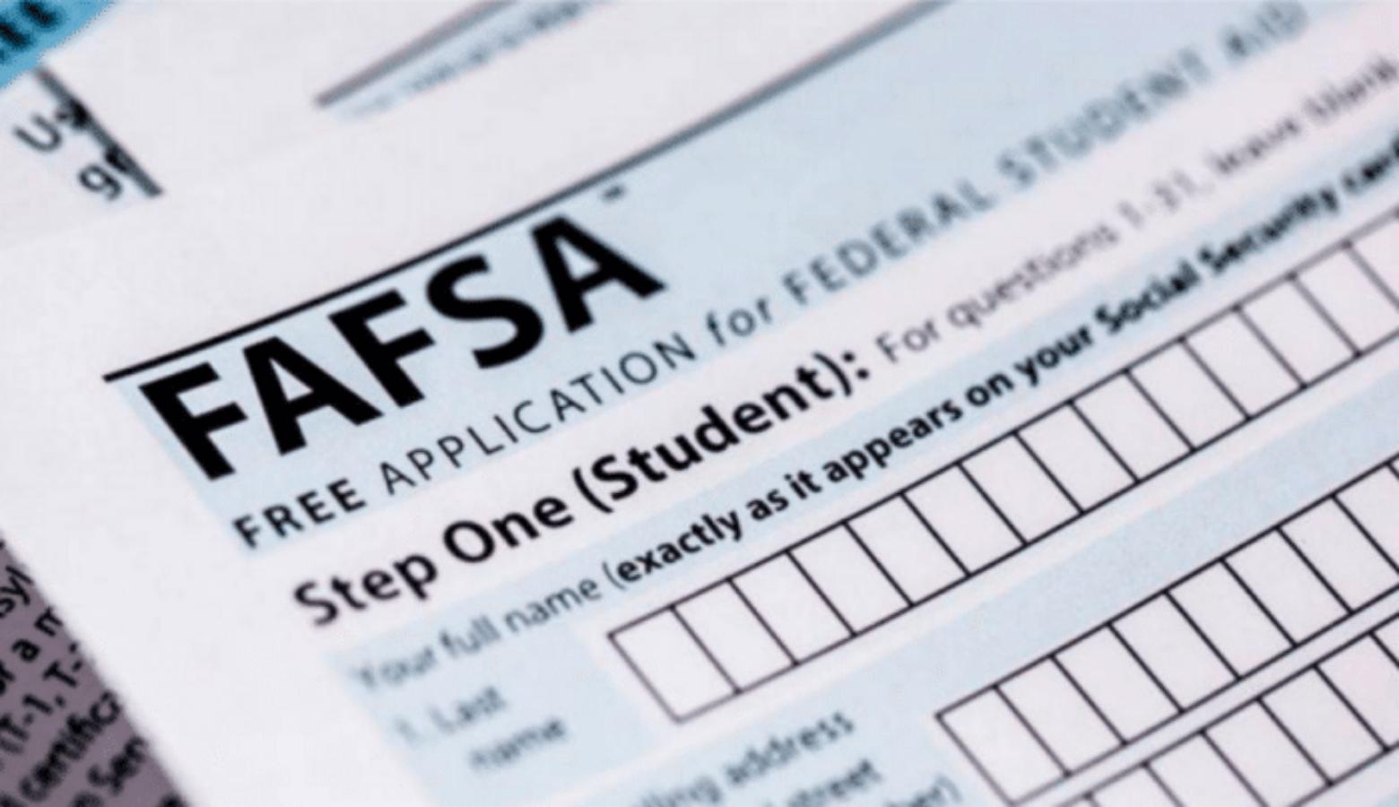 FAFSA Process Now Open