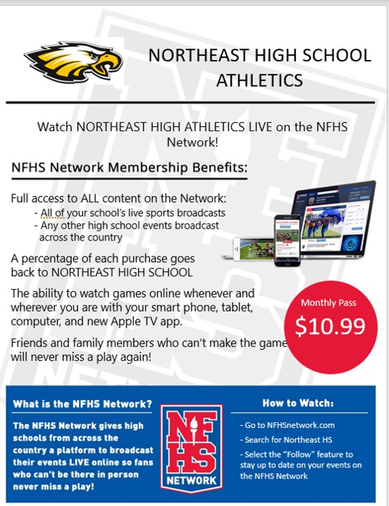 Watch Northeast Athletics Live!!