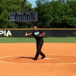 Dr. Baptiste Throws Out the First Pitch