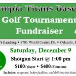 Olympia Titans Baseball Golf Tournament Fudraiser