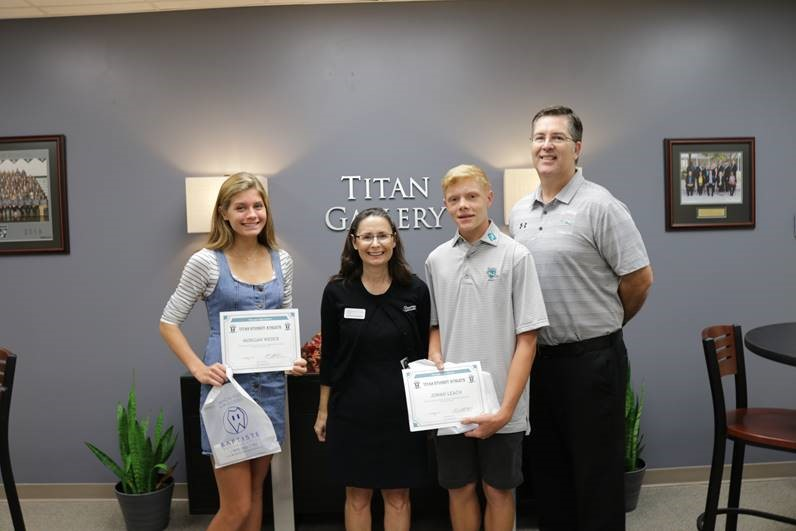 Congratulations to Jonah Leach and Morgan Webber- Baptiste Orthodontics Athletes of the Month