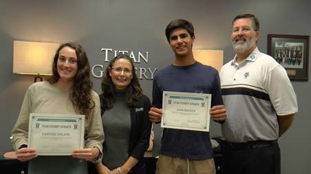 Caryssa Orland and Juan Bianchi Named Baptiste Orthodontics Student Athletes of the Month