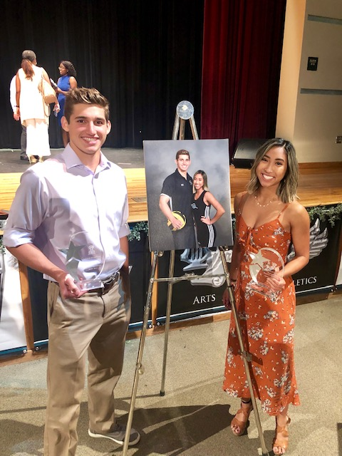 Raelin Daganzo and Luke Carey Named Athletes of the Year for 2019
