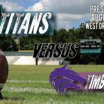 Varsity Football Pre-Season Game vs. Timber Creek to be held at West Orange HS