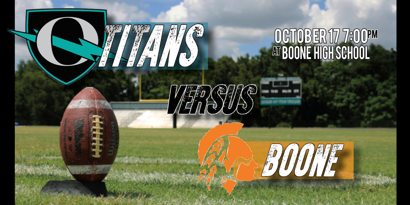 VARSITY FOOTBALL THURSDAY, OCT. 17TH 7PM