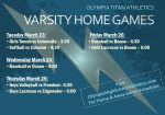 Titan Home Schedule – Week of March 22