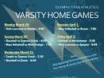 Titan Varsity Home Schedule – Week of March 28