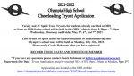 2021-22 Cheerleading Application