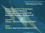 Post Season Play Continues – Week of April 26