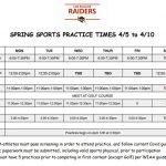 Spring Sports begin April 5th