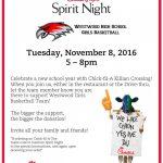 WHS Girls Basketball Spirit Night