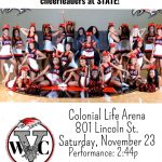 Redhawk Cheer Competes in State Championship Competition Saturday