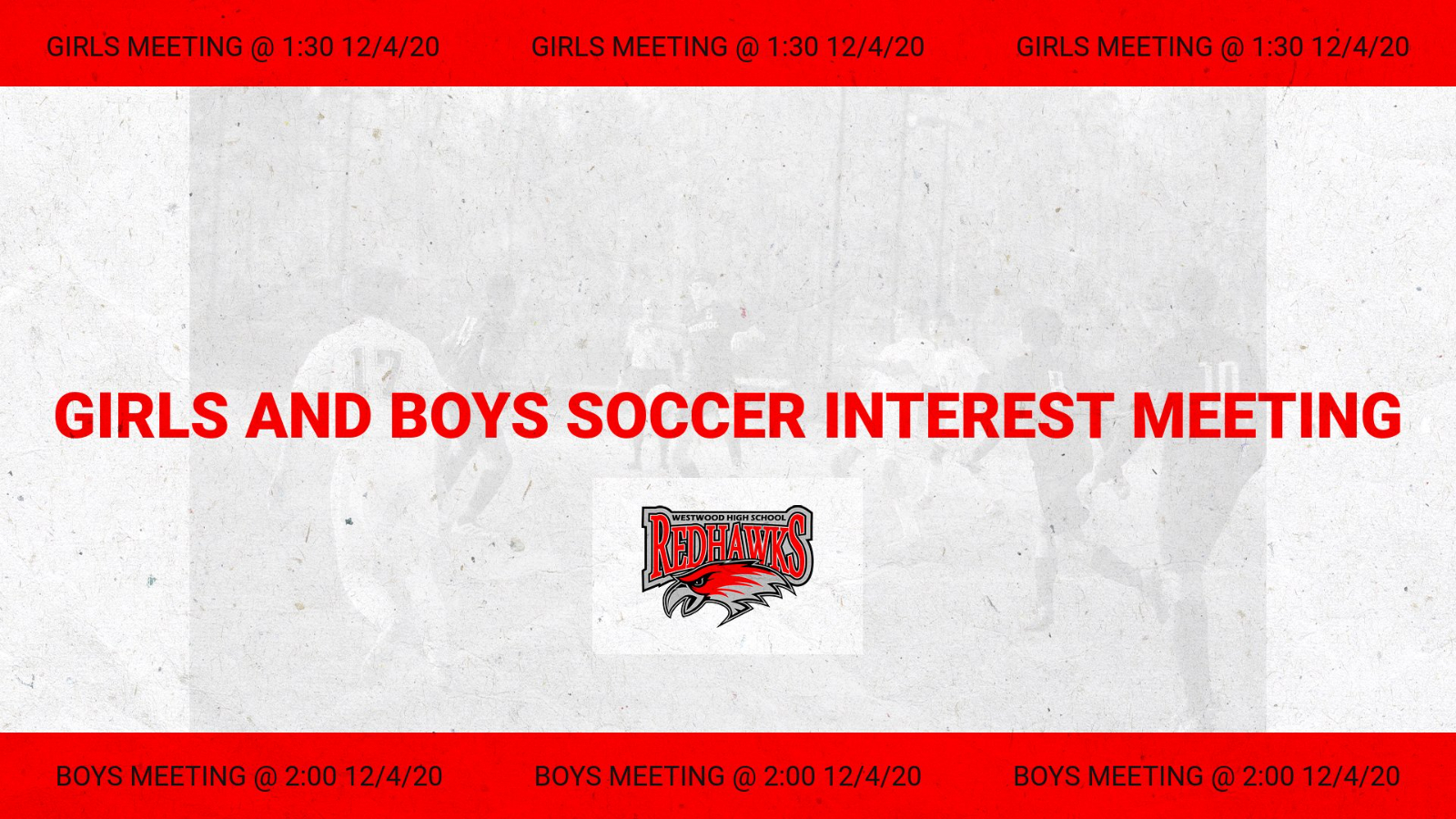 Boys and Girls Soccer Interest Meeting