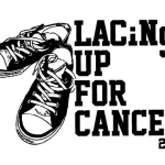 "Lady Royals participating in ""Lacing up for Cancer"" at tonight's game!"