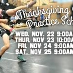 Thanksgiving Holiday Practice Schedule