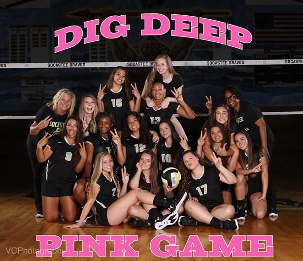 Annual Dig Deep Pink Game Saturday 12:00