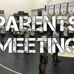 Wrestling Parents Meeting Thursday