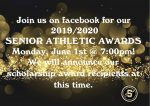 Click Here to Watch Senior Athletic Awards