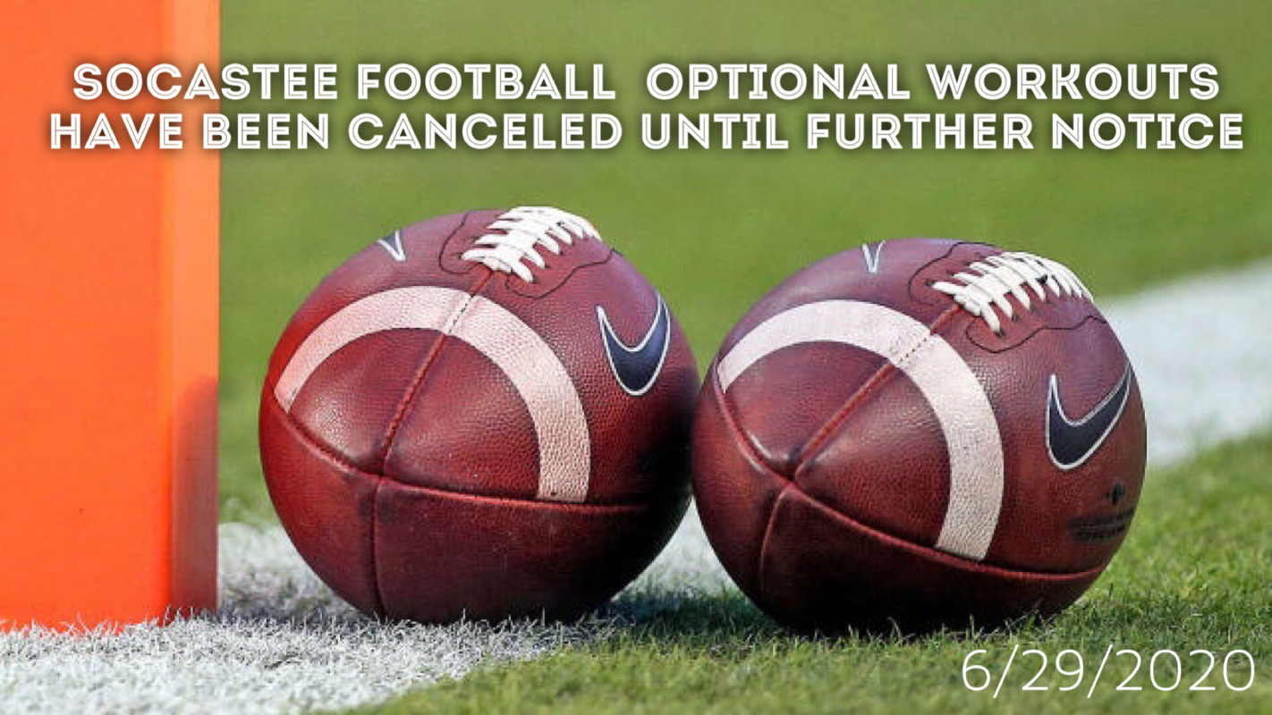 Optional Football Conditioning Suspended